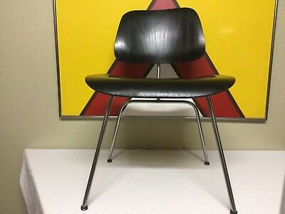 Early 50's Herman Miller Charles Ray Eames DCM Ebony MCM Dining Chair