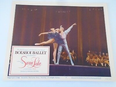 #3 Lobby Card 1960 Bolshoi Ballet SWAN LAKE Columbia Pictures