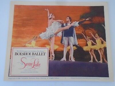 #5 Lobby Card 1960 Bolshoi Ballet SWAN LAKE Columbia Pictures