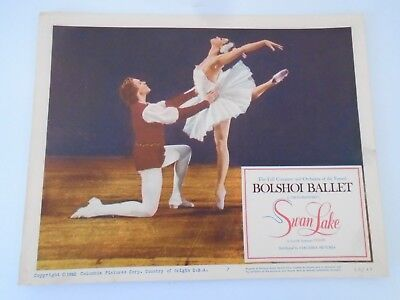#7 Lobby Card 1960 Bolshoi Ballet SWAN LAKE Columbia Pictures