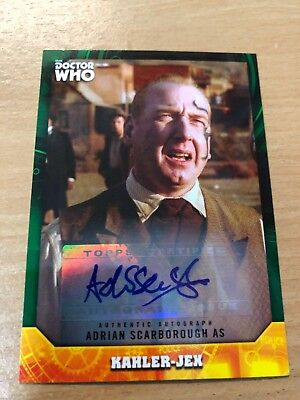 Topps Dr Who Signature Series Adrian Scarborough 49/50 As Kahler- Autograph Card