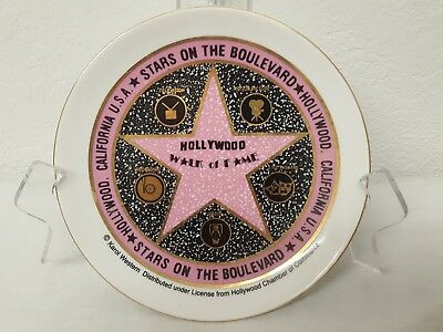 Vintage Hollywood Walk Of Fame Souvenir Collectible Plate Stars On The Boulevard