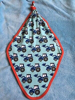 Maxomorra Tractor Print Knotted Blanket
