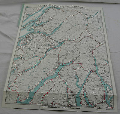 Gall and Inglis Tourist Map of Oban District Half Inch to Mile Vintage Scotland