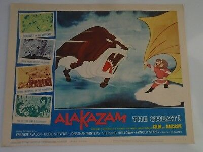 Lobby Card 1961 ALAKAZAM The Great. Voice of Frankie Avalon Dodie Stevens