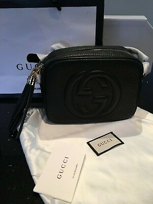 a57c9fdae Gucci Soho Disco Bag - Black Nero Grained Leather - New With Dustbag & Bag