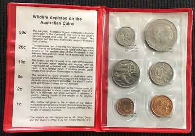 1981 Australia Uncirculated/Mint Set Nice Coins Red Case
