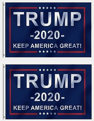3x5 Ft Trump 2020  Keep America Great for President Trump  MAGA Flag US Blue