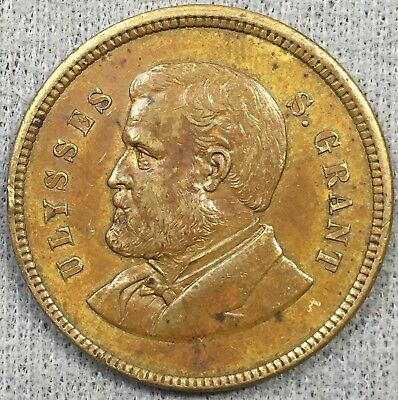 1879 Ulysses Grant Municipal Parade Medal - Distributed By Employees Of Us Mint