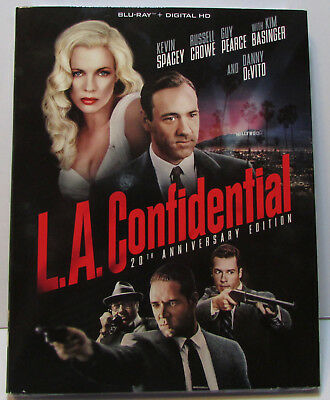 L.A. Confidential 20th Anniversary Edition Blu-ray w/ Slipcover NEW! No Digital