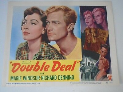 L2 Lobby Card 1950 DOUBLE DEAL Marie Windsor Richard Denning