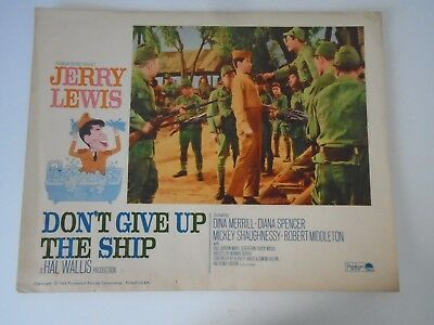 L2 Lobby Card 1964 DON'T GIVE UP THE SHIP Jerry lewis Dina Merrill Diana Spencer