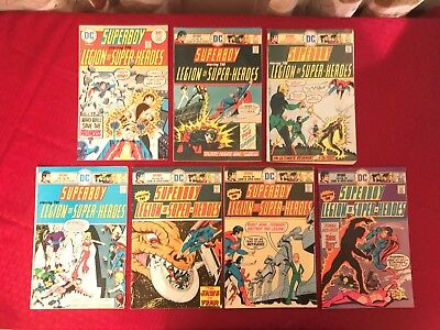Superboy lot 209-215 7 issues mid grade 1975 DC