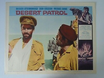 Lobby Card 1962 DESERT PATROL Richard Attenborough John Gregson Michael Craig