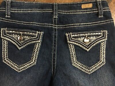 Red Camel Jeans Size 12 Girls EUC Bling Front And Back Pockets