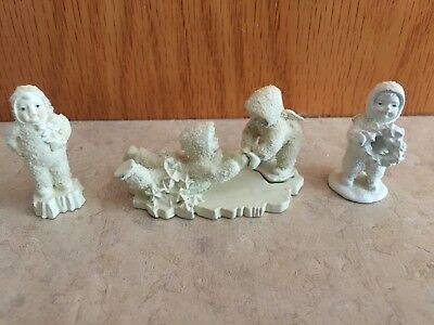 """HELP ME, I'M STUCK!"" SNOWBABIES DEPT. 56 PEWTER MINIATURES and TWO OTHERS"