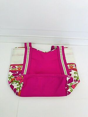 Vera Bradley Lilli Bell Small Color Block Tote Retired Pink Orange f08e1da06e6ce