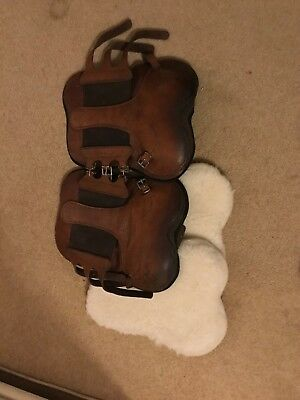 FTE leather tendon boots with sheepskin liners