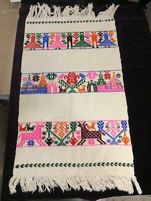 Otomi woven Tzutze from San Miguel Ameyalco, Mexico