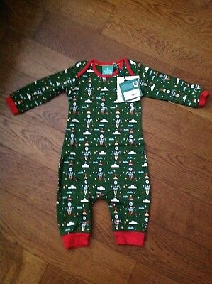 Rocket to the Stars Playsuit from Little Green Radicals - Size 9-12 months