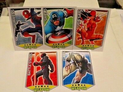 marvel HERO ATTAX WEAPON 5  topps trading card game SHIELD CLAWS TWIN SAIS