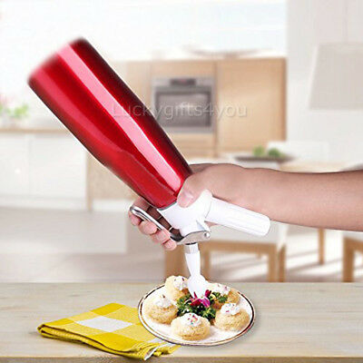 0.5L Cream Whipper Whipped Dispenser Canister Cake Nitrous Dessert Coffee AU