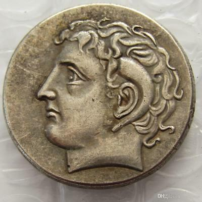 Ancient Greek Silver Didrachm Coin from Kyrene 308 BC