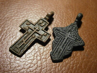 Ancient Kievan Rus Russian Empire Bronze Crosses Christian Orthodox Church #2