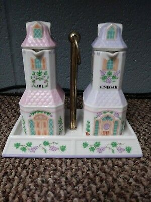 The Lenox Village Oil & Vinegar Set With Holder