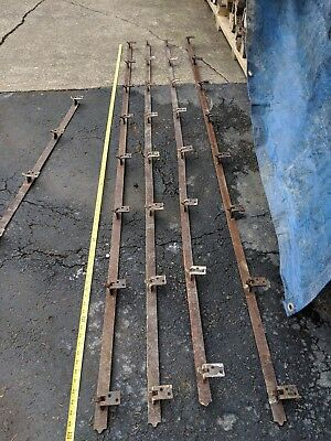 Antique  Barn Door Tracks 4 - 8ft long pieces