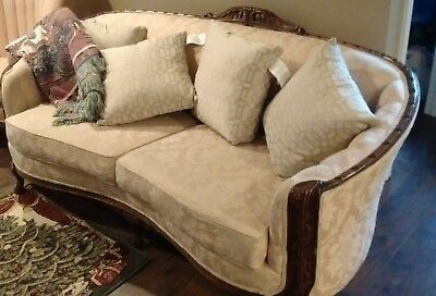 Antique parlor set sofa and two wing chairs