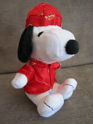 "Peanuts MetLife 6"" Plush Snoopy Doll Chinese Happy Coat New Year Free Shipping!"