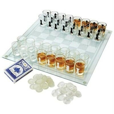 Maxam 3-in-1 Shot Glass Chess Set - SPCHESS2. Bnfusa. Free Delivery