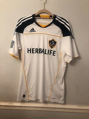 Mens White LA Galaxy Football Shirt - Medium