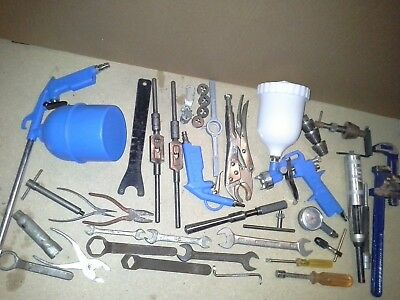 Joblot Tools Air Spray Guns Spanners Tap Holders Record Pipe Wrench To Clear