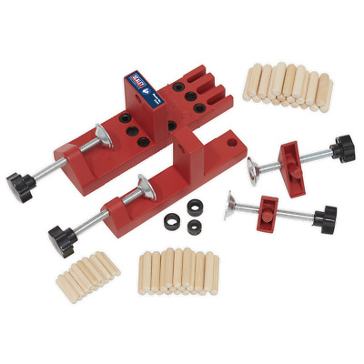DJ01 Sealey Universal Dowelling Jig Set [Jigs]