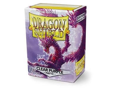 Matte Clear Purple 100ct Dragon Shield Sleeves Standard FREE SHIPPING! 5% OFF 2+