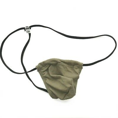 K345C Mens String Pouch G-Thong Soft Cotton Small Posting Pouch