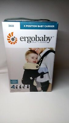 ERGOBABY 360 4 Position Baby Carrier, Black/Camel