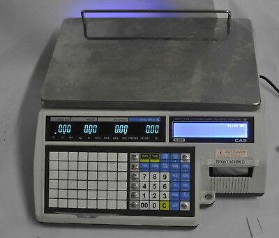 CAS CL5000-B-60 60 lbs Retail Price Computer Printing Scale