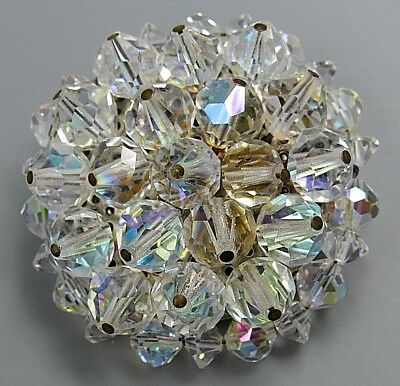 Vintage Jewelry Austria Faceted Prism AB Crystal BROOCH PIN Rhinestone Lot A