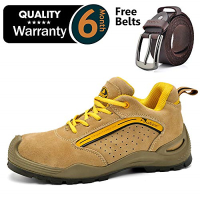 Safetoe Breathable Leather Safety Shoes [CE Certified] - 7296 Lightweight Summer