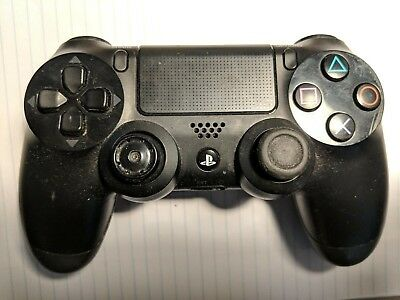 OEM Sony PlayStation 4 PS4 Dualshock 4 Wireless Controller Jet Black // Broken