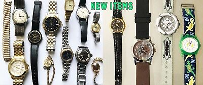 Lot of 11 old Wrist Watches, some Vintage
