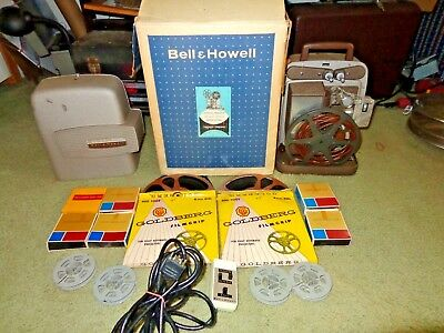 Vtg.Bell & Howell 265A 8mm Movie Projector Autoload Touch Tronic & Box & Remote