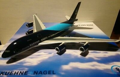 AIRBUS A380-800F KUEHNE+NAGEL The global logistics network très gros Model 1/200