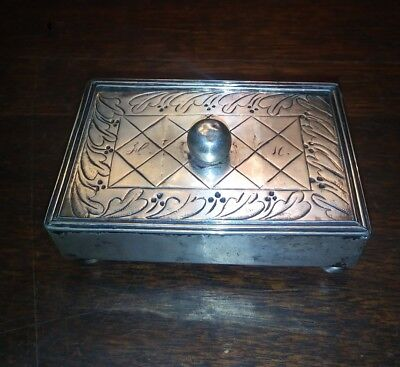 18th Century Continental Engraved Sterling Silver Snuff Box