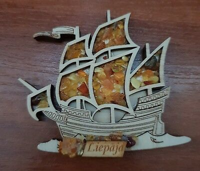 Customised Souvenir Fridge Magnet - Filled with natural Baltic amber
