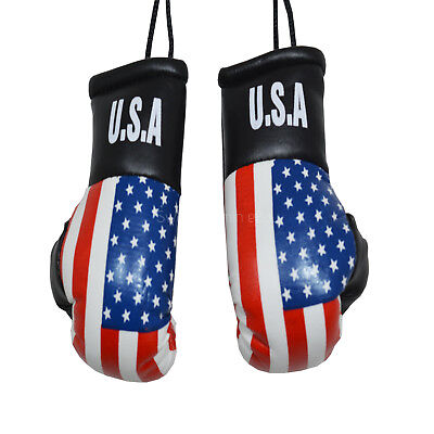CAR van Boxing Gloves Hanging Decoration Flag SCOTLAND Mirror Office Accessory