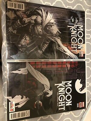 Moon Knight 200 Set Cover A and Finch Variant NM UNREAD
